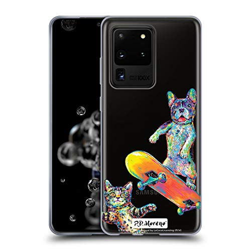 Head Case Designs Offizielle P.D. Moreno Paar Skateboard Lustige Liebe Soft Gel Huelle kompatibel mit Samsung Galaxy S20 Ultra 5G