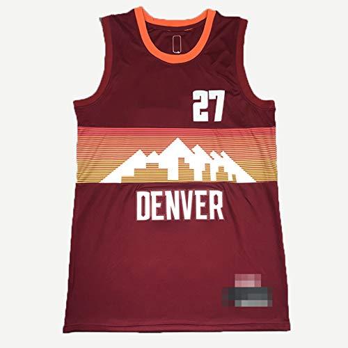 GLACX NBA Denver Nuggets 27# Murray Classic Jersey, Retro cómodo/Ligero/Transpirable Camisetas Deportivas de Malla Bordada, Fan para Unisex Jerseys Swingman,Marrón,XL