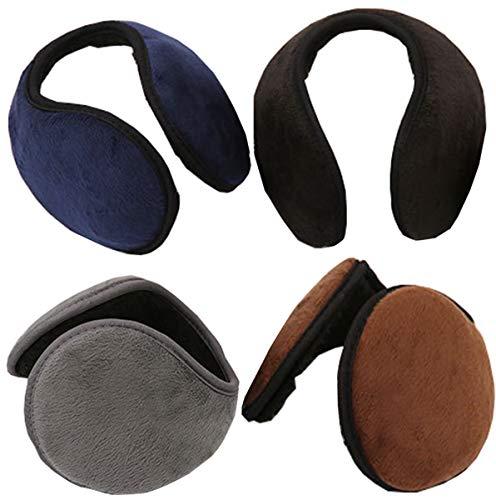 Liuer Oorbeschermers voor dames, heren, warme oorbeschermers voor de winter, houdt de oren warm, uniseks, een leuk kerstcadeau, zwart/grijs/koffie, marine