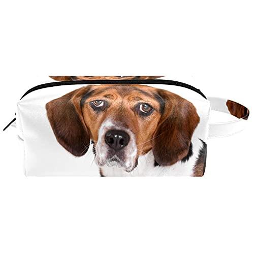 Neceser de Maquillaje Estuche Escolar para Cosméticos Bolsa de Aseo Grande,Perro Beagle de Cachorro