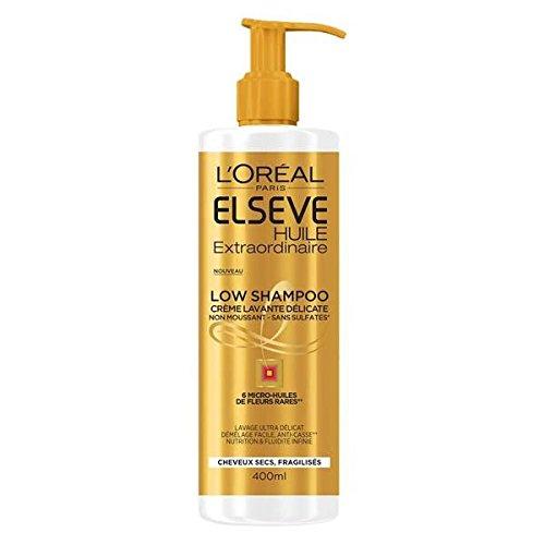 Elseve shampooing huile extraordinaire low poo flacon pompe 400ML maxi format (Prix Par Unité) Envoi Rapide Et Soignée