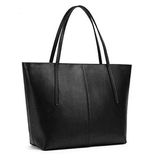 7f274a1b1386 Obosoyo Women s Handbag Genuine Leather Tote Shoulder Bags Soft Hot
