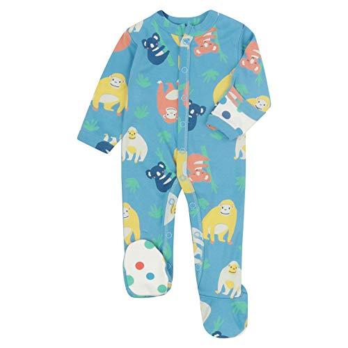Piccalilly Pijama de bebé con pies, suave jersey, algodón orgánico libre de químicos, Orangután + Koala impresión, unisex, para bebé y niño