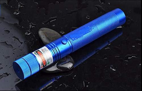 Fnho Carga USB portátil de Alta Potencia,Linterna LED con Enfoque Ajustable,Linterna para Exteriores, Mesa de Arena Que enseña Puntero-Blue_Bare Pen