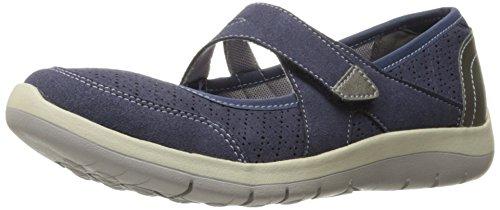 Aravon Women's Wembly Mary Jane Fashion Sneaker, Blue, 10 2E US