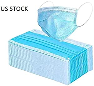 100 PCS Masks for dust protection,Medical Masks Disposable Face Masks with Elastic Ear Loop Disposable Dust & Filter Safety Mask (100 pieces)