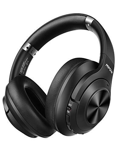 Mpow H21 Auriculares con Cancelación de Ruido Bluetooth 5.0, 65 Horas de Juego, Auriculares Diadema Bluetooth con Hi-Fi Sonido, CVC 6.0, Cascon con Cancelación de Ruido para TV/PC/Móvil/Tableta