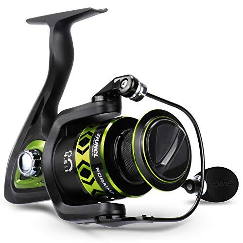 Best underspin reel - RUNCL Spinning Fishing Reel RORAIMA, Fishing Reel - Full Metal Body, 7+1 BB, Carbon Fiber 17.5 LB Max Drag, Braid-Ready Spool, CNC-Machined Spool - Smooth Freshwater Fishing Spinning Reel 3000