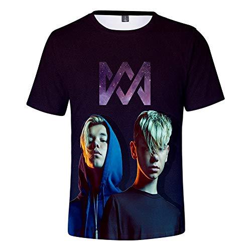 KJYAYA Zwillinge Marcus & Martinus 3D Unisex T-Shirt Shorts Set Erwachsene Kinder Tops Kurzarm-Shorts Geschenke Für Fans