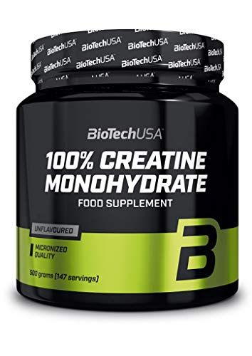 2 x Biotech USA 100{99fda2e4c0f73303f8596bd5717f8ba62620dc9d1ca83bfa44739486ad66809e} Creatine Monohydrate, 500g Dose (2er Pack)