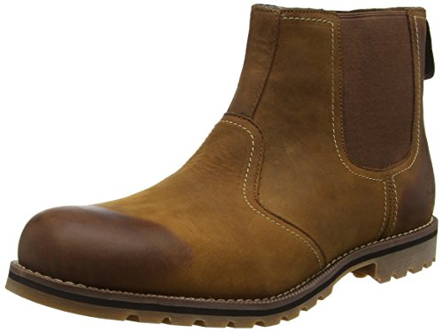 Timberland Larchmont Chelsea Waterproof, Botas Hombre, Marrón (Medium Brown Nubuck), 44.5 EU