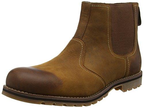 Timberland Herren Larchmont Chelsea Chukka Boots, Braun (Oakwood FG with Suede), 44.5 EU
