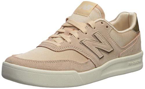 New Balance Women's 300v2 Court Shoe Sneaker, Sandstone/White, 6.5 B US