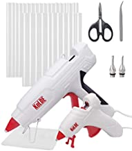 KeLDE 100W Full Size Hot Glue Gun and 10W Mini Glue Gun with 50 pcs Glue Sticks, Includes Changeable Fine Tip Nozzles, Scissors, Tweezers, and Rubber Pad for DIY, Craft Projects & Repair