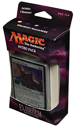 Magic the Gathering: MTG Eldritch Moon: Intro Pack / Theme Deck: Unlikely Alliances (includes 2 Booster Packs & Alternate Art Premium Rare Promo) White / Black - Sanctifier of Souls