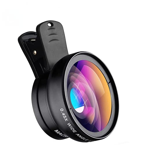 2021 New HD Cell Phone Camera Lens 2 in 1 Clip-on...