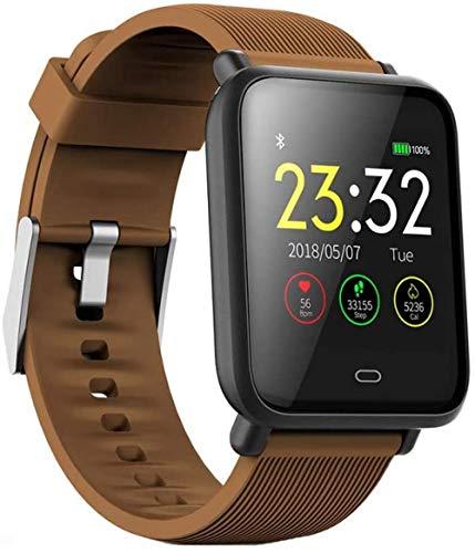 JSL Reloj inteligente para adultos con frecuencia cardíaca, presión arterial, multifunción, pantalla de color de los deportes de la pulsera de paso de la pulsera 5