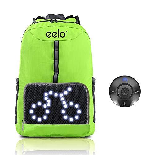 eelo Zaino per Ciclisti con luci LED - per Una Migliore visibilità Notturna