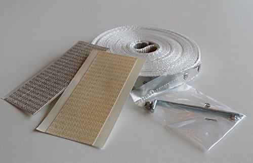 Rolladen Gurtband Reparaturset für verschmutze und verschlissene Gurtbänder (Gurtband 14 mm)