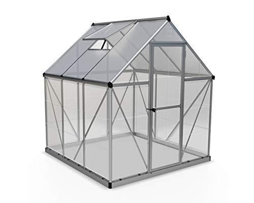 Hybrid Hobby Greenhouse, 6' x 6' x 7', Silver - Palram HG5506