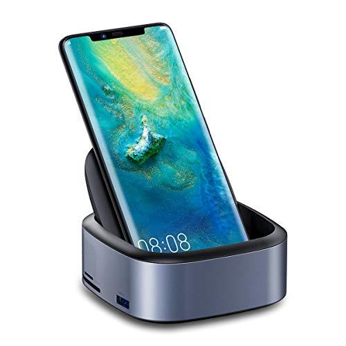 Samsung Dex Station, Baseus Samsung Dockingstation, USB C zu 4K HDMI Adapter, Desktop-Erfahrung für Samsung Galaxy S10 / S9 / S8 / S10 / S9 / S8 Note 9/8, Huawei Mate 10/10 Pro / 20 Pro, P20/Pro usw.