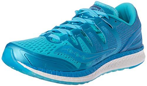 Saucony Women's Liberty Iso Stabilitätsschuh Damen - Blau, Hellblau Running Stability Shoe, Blue, 4 UK