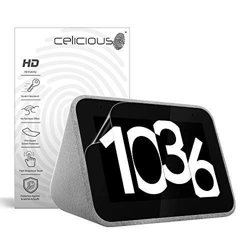 Celicious Vivid Invisible Glossy HD Screen Protector Film Compatible with Lenovo Smart Clock CD-24501F [Pack of 2]