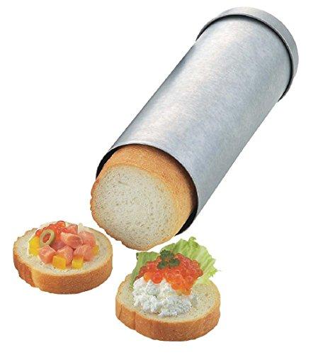 タイガークラウン パン型 シルバー 78×220×78mm サークルブレッド スチール アルミメッキ カナッペ用 レシピ付 2376