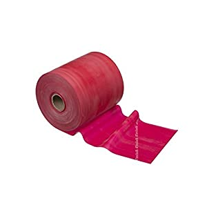 TheraBand Resistance Bands, 50 Yard Roll Professional Latex Elastic Band For Upper & Lower Body & Core Exercise, Physical Therapy, Pilates, At-Home Workouts, & Rehab, Red, Medium, Beginner Level 3