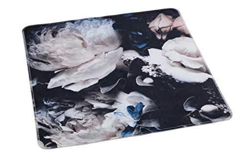 WENKO Duscheinlage Peony, Duschmatte, Badewanneneinlage, Anti Rutsch Matte, Quadratisch, Motiv Meditation, 54 x 54 cm
