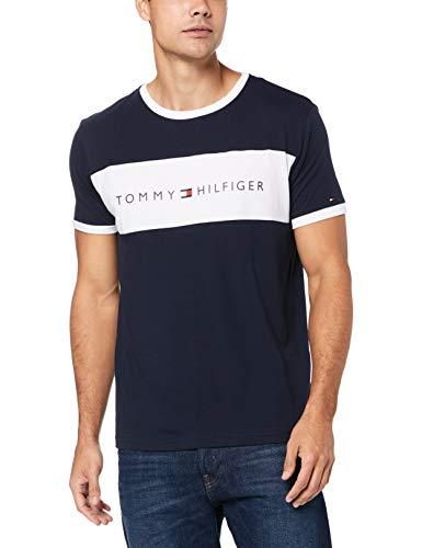 Tommy Hilfiger Shirt Herren, Marine - Weiß, M