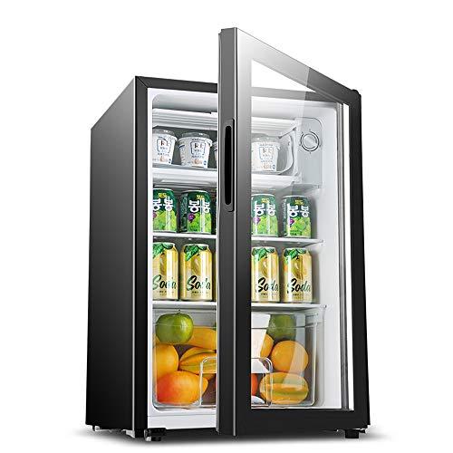 YUTGMasst Compresor Enfriador De Vino con Cerradura Congelador con Iluminación LED, -6 ° C A 12 ° C, Refrigerador De 5 Velocidades con Temperatura Controlada, Congelador Pequeño,90L