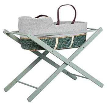 White moKee Soft Seagrass Moses Basket Liner