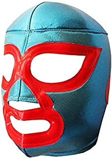 Nacho Libre Lucha Libre Wrestling Mask (Kids - Fit) Costume Wear by Make It Count Blue