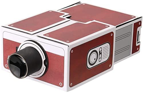 Proyector doméstico, mini proyector, vídeo proyector portátil, doméstico portátil, proyector de cartón para bricolaje