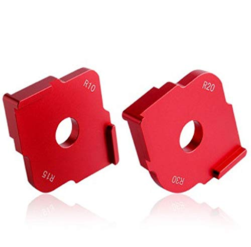 Set of 2 Aluminium Alloy Wood Panel Corner Radius of Quick Table of Router Bit Gauge Templates Kit, for Routing Rounded Corners R10 R15 R20 R30, Woodworker Woodworking Round Accessories 0.625' Radius Rounded Corners