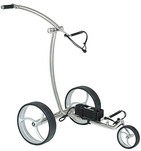 Leisure Golf Elektro Golftrolley Taurus Slim Line Bergabfahrbremse und Distanztimer