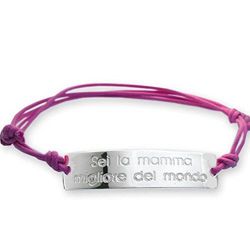 Pulsera plata 952Sei la madre mejor del mundo–regalo para el día de la madre, la idea regalo mamás primerizas