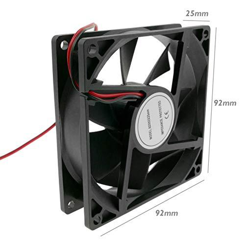 BeMatik - Ventilador de chasis 90x90x25 mm de 12 VDC para Caja de Ordenador (VL017)
