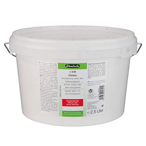 Schmincke Gesso 2,5 L - Leinwand Grundierung weiß matt Öl und Acryl 50 518 062
