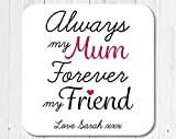 free brand Posavasos de madera con texto en inglés 'Sentimental Always My Mum', con texto 'Love Mum'