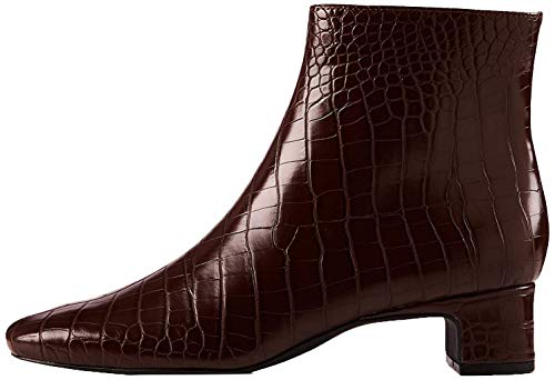 find. Block Heel Square Toe Botines, Braun Brown Croco, 39...