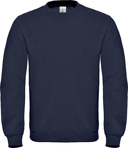 B&C Collection ID.002 Pull Col Ras du Cou pour Hommes Pull Manches Longues Haut Décontracté - Bleu Marine, X-Large
