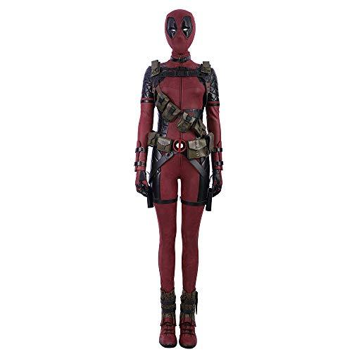 KILLM Traje de Rendimiento Femenino Halloween Deadpool Jumpsuit Medias Cosplay Disfraz...