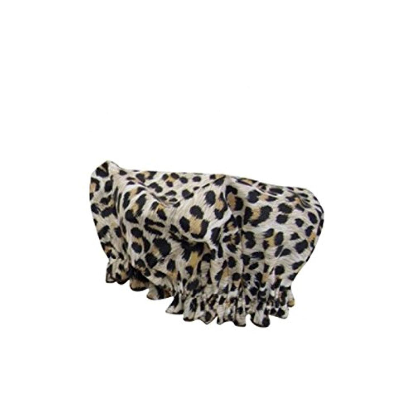 栄養風刺電気Hydrea London Eco Friendly Shower Cap - Leopard (Pack of 6) - ハイドレアロンドンのエコフレンドリーシャワーキャップ - ヒョウ x6 [並行輸入品]