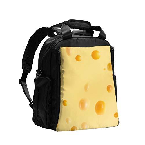 チーズの写真 大容量おむつバッグバックパック多機能ママお父さんバッグベビーケアバッグおむつバッグ看護バッグ