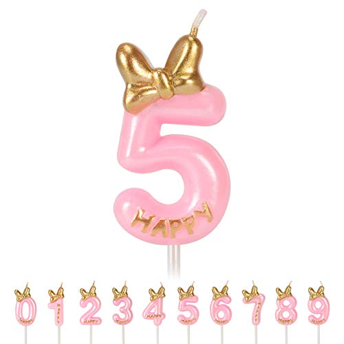 FYYZY Birthday Candles Numbers for Kids Cake Topper Numeral Candle Party Wedding Anniversary Decorations