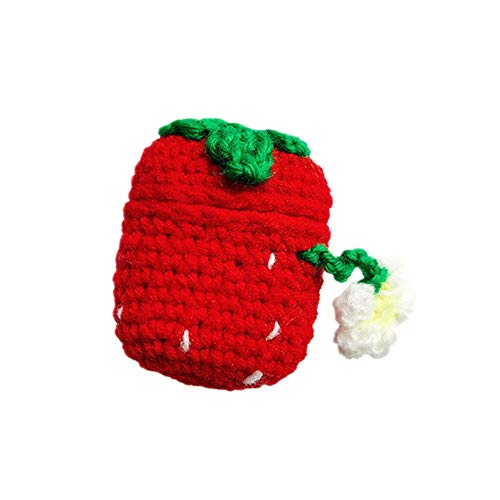 Great Price! BONTOUJOUR AirPods Case, Super Cute Creative Winter Warm Style Fruit Delicious Red Stra...