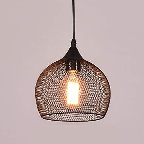 CAIMEI Lámpara Colgante E27 Linterna Luminaria Candelabro Cafetería Bar Luz de Suspensión Hierro Forjado Metal Droplight Pasillos Lámpara,Trompeta de Sección Si