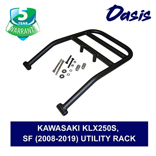 Oasis Rear Luggage Utility Rack - Compatible with Kawasaki KLX250S, SF (2008-2019) - 5 Years Warranty
